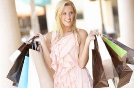Shopaholic with shopping bags